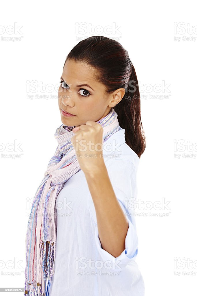 Don't mess with her! royalty-free stock photo