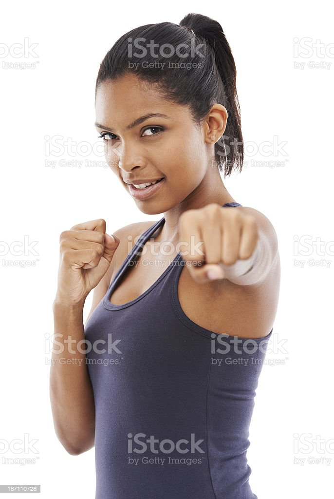 Don't mess with her royalty-free stock photo