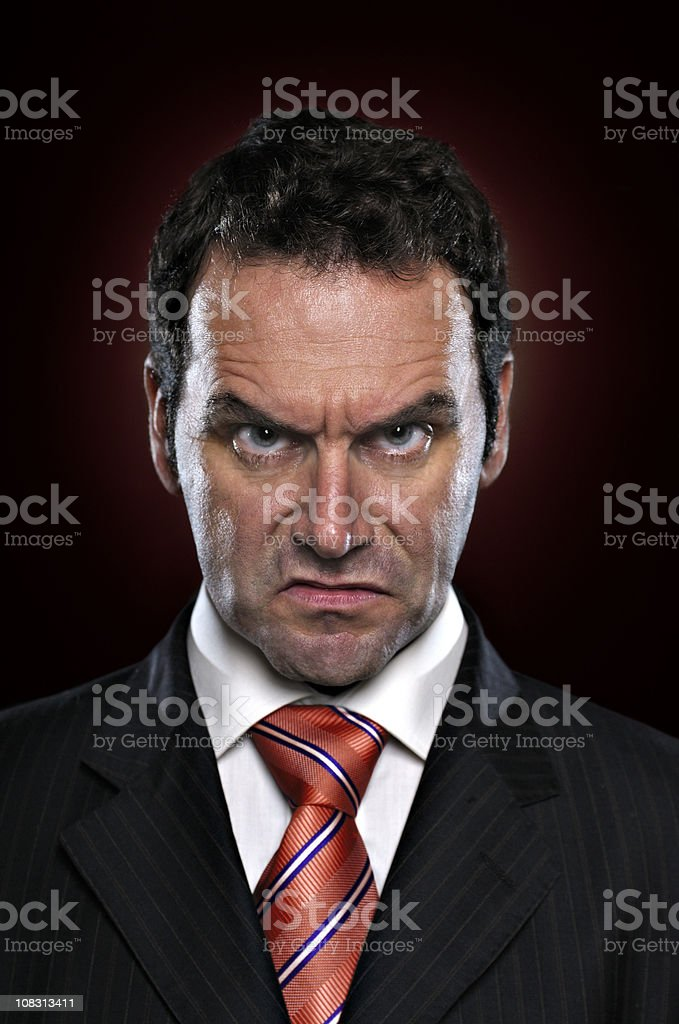 Don't mess with me stock photo