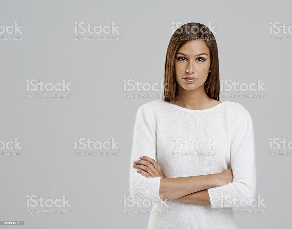 Don't mess with me today stock photo