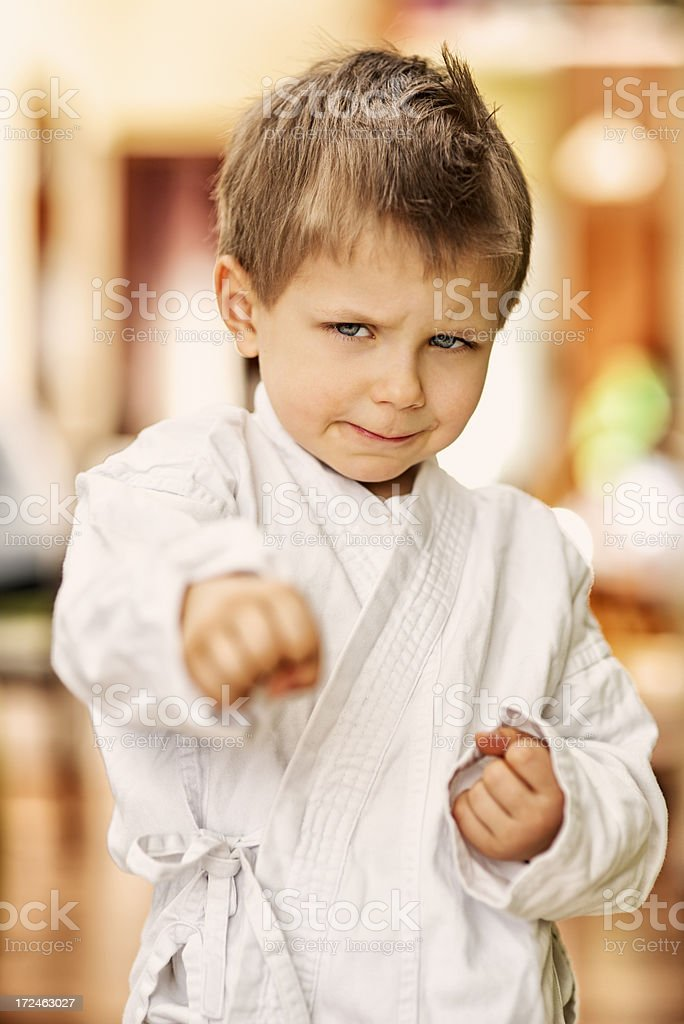 Don't mess with the karate kid royalty-free stock photo