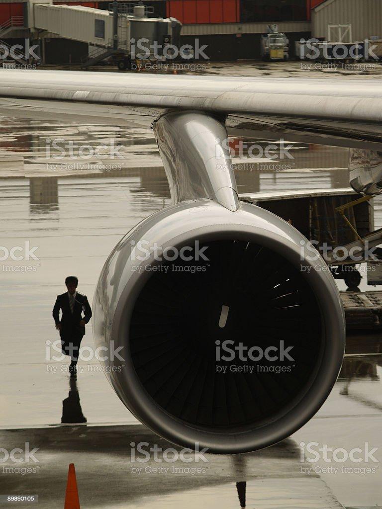 Não perca o avião foto royalty-free