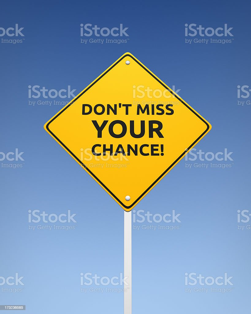 Don't Miss Your Chance XL+ royalty-free stock photo