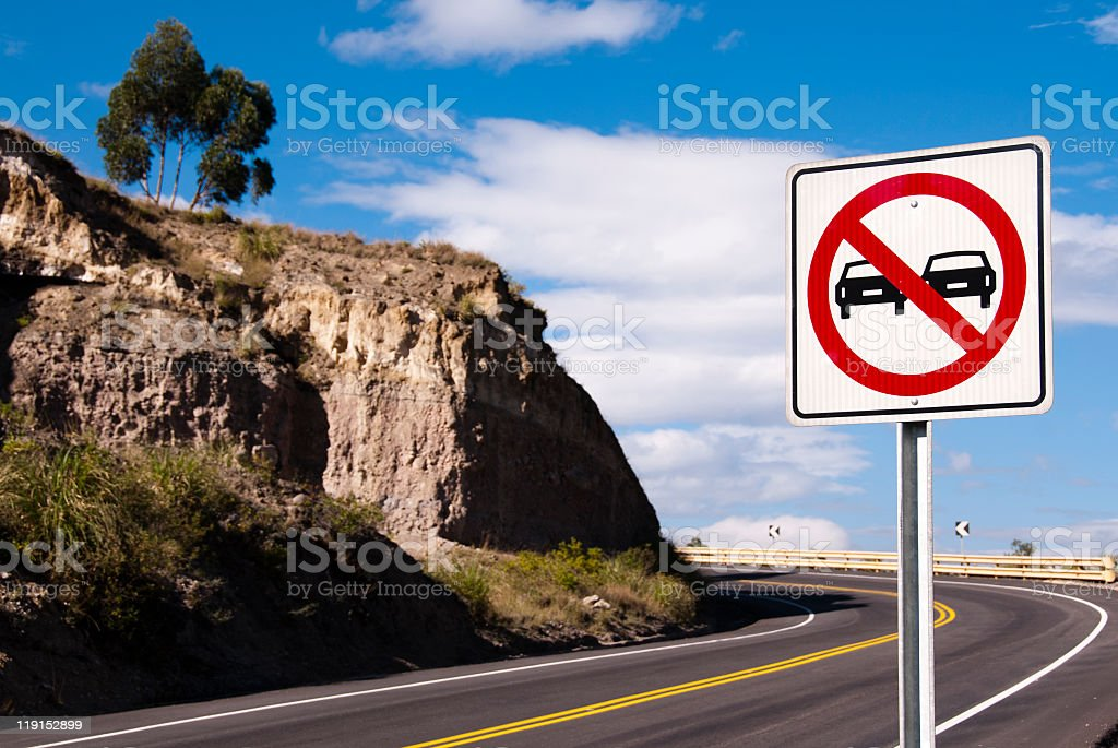don't overtake stock photo