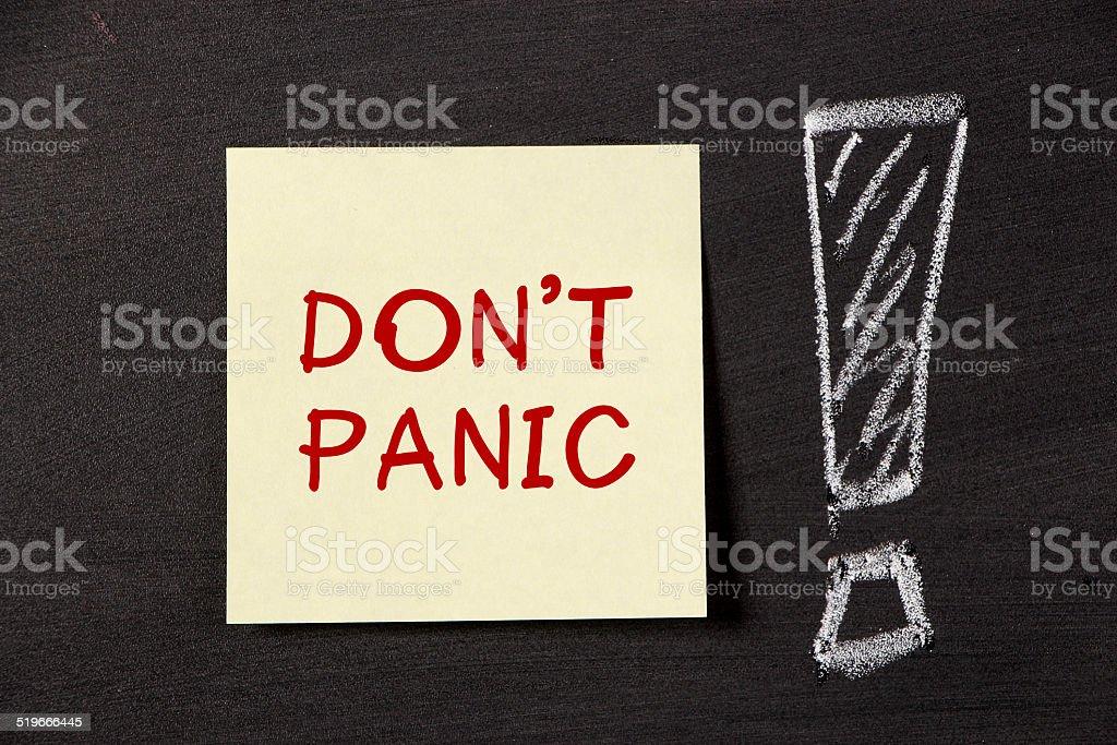 Don't Panic! stock photo