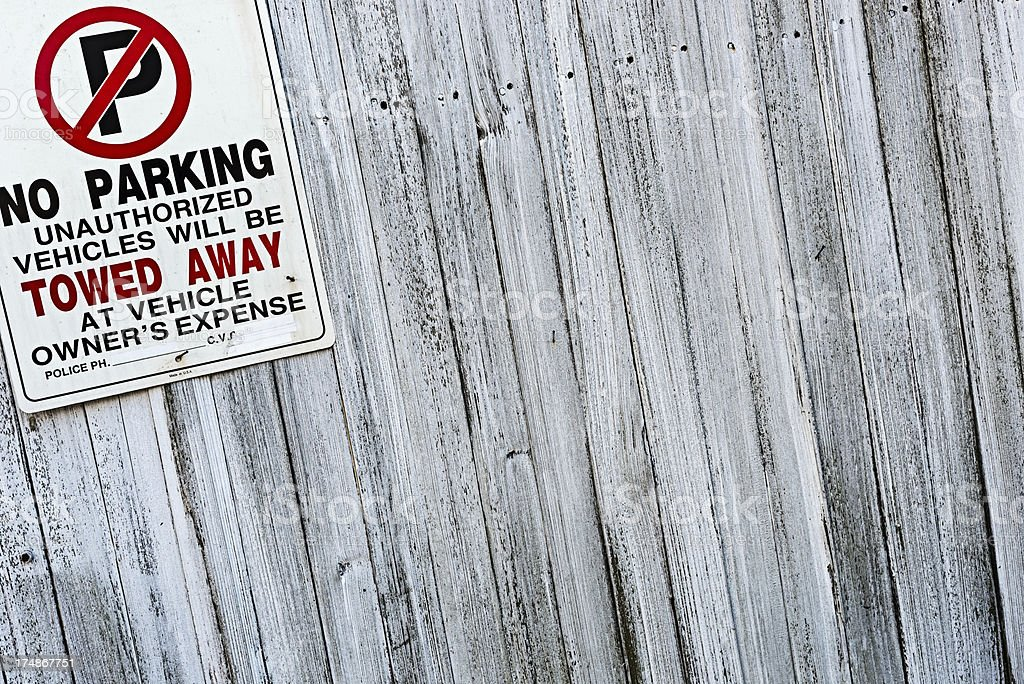 Don't park here royalty-free stock photo