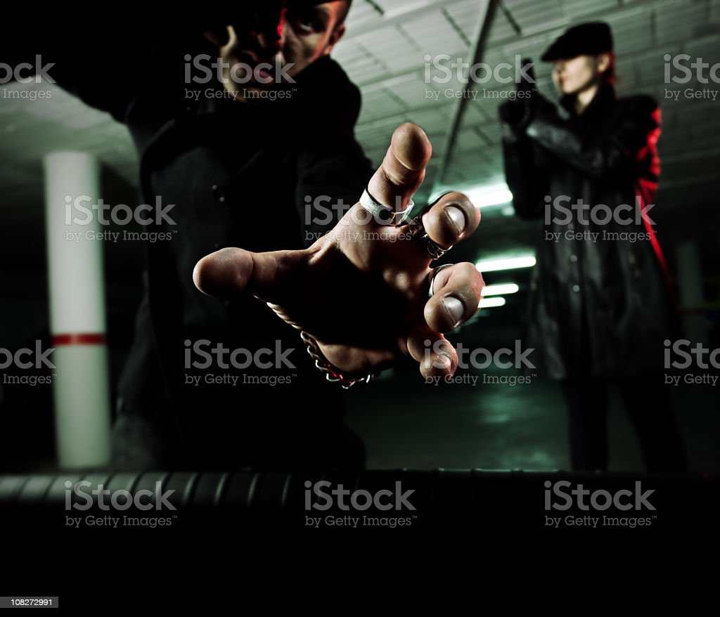 Don't play with bad guys royalty-free stock photo