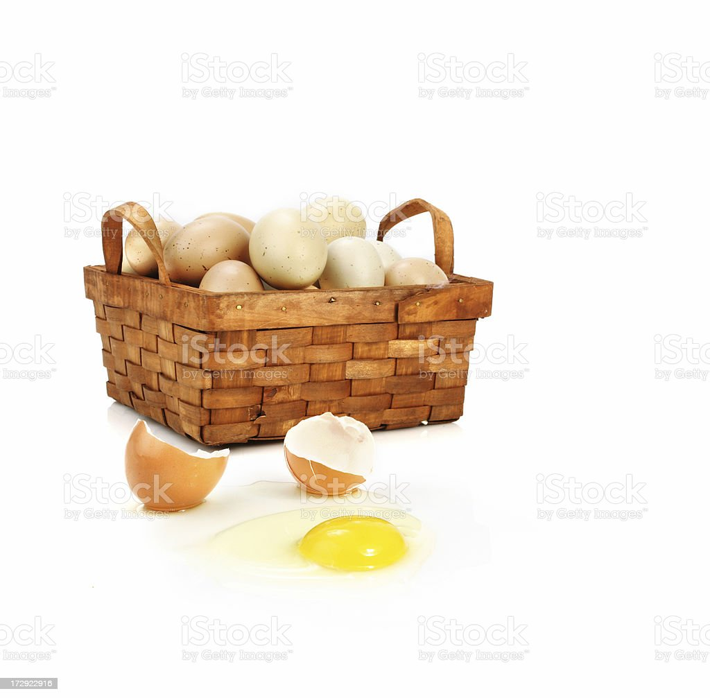 Dont put all your eggs in one basket stock photo