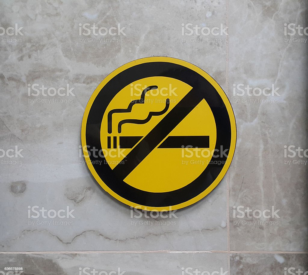 Don't smoke sign stock photo