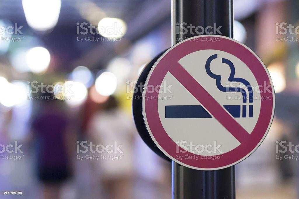 Don't smoking stock photo