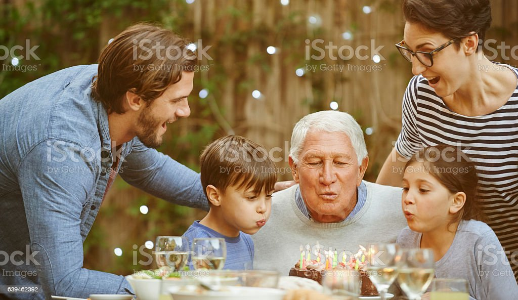 Don't stop till all the candles are out stock photo