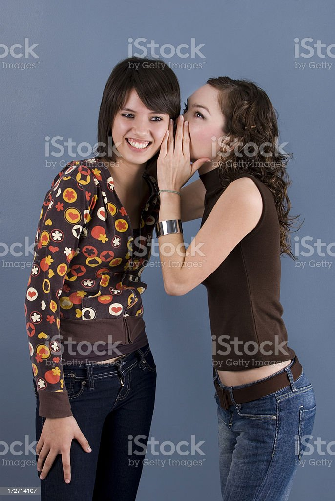 don't tell any one! royalty-free stock photo