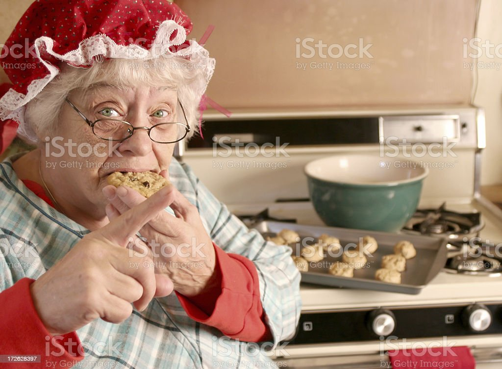 Don't tell on Mrs Claus stock photo