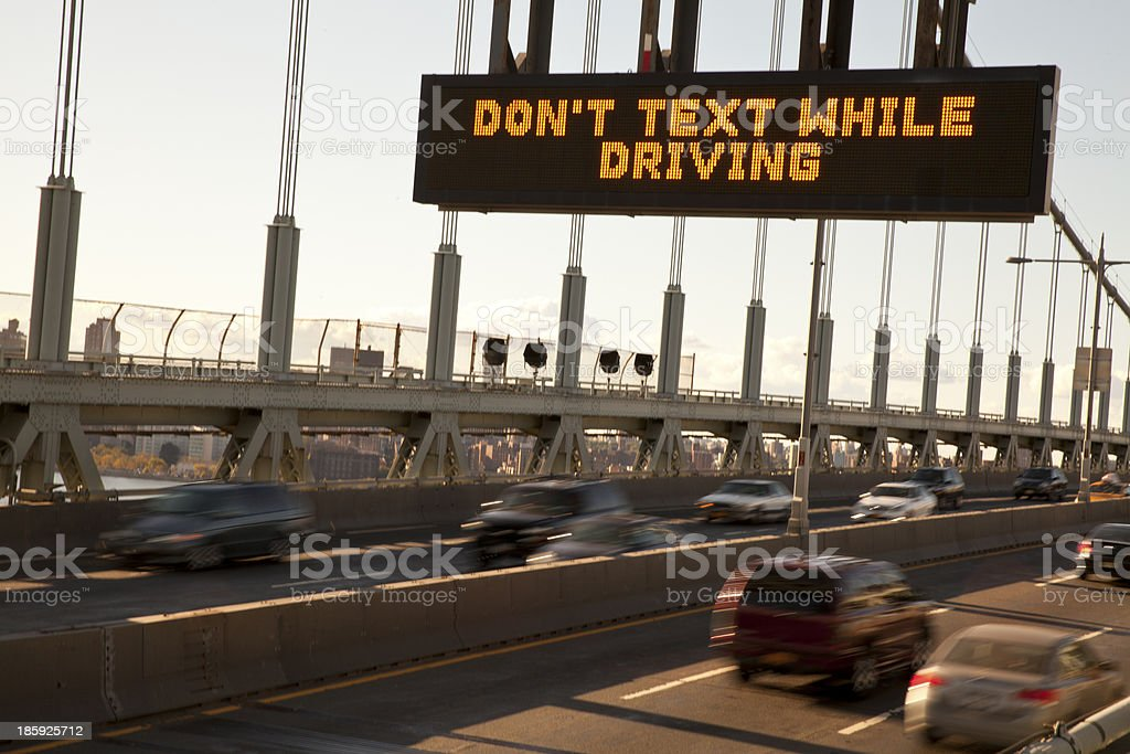 Don't text while driving royalty-free stock photo