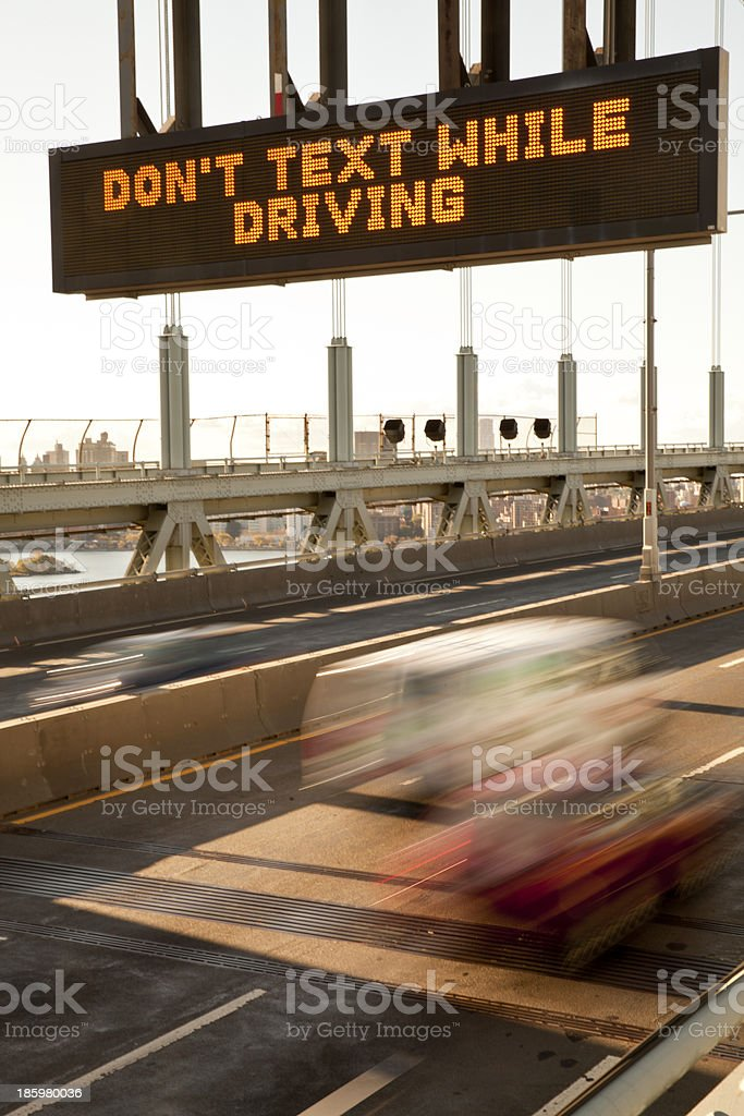 Don't text while driving stock photo