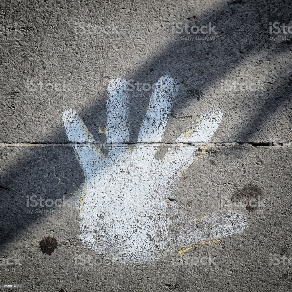 Don't touch me stock photo