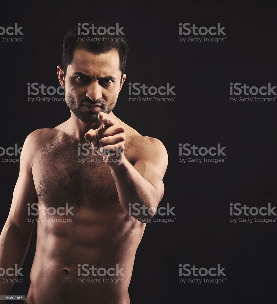 Don't Try to Mess Up With Me When I'm Angry stock photo