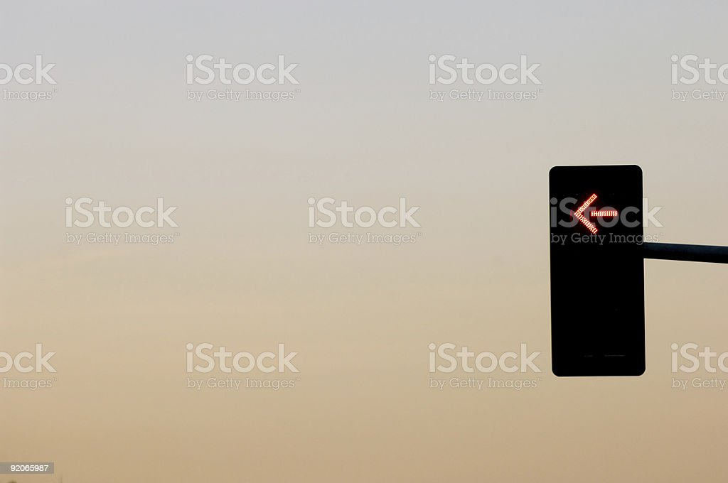 Don't turn left royalty-free stock photo