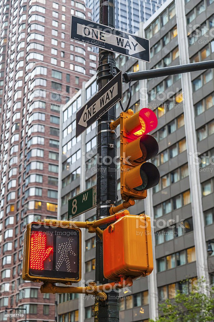 Don't walk New York traffic sign stock photo