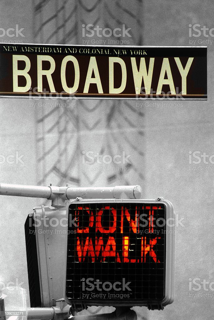 Don't Walk royalty-free stock photo