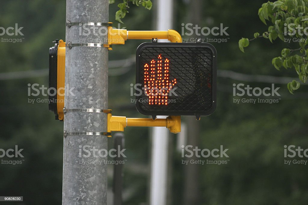 don't walk stock photo