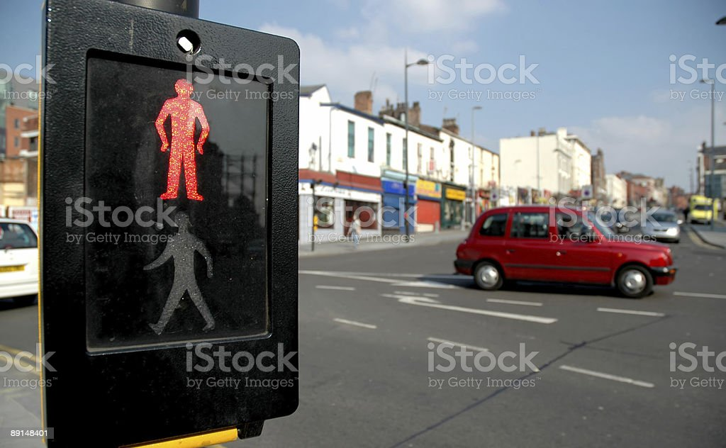 Don't walk sign in traffic royalty-free stock photo