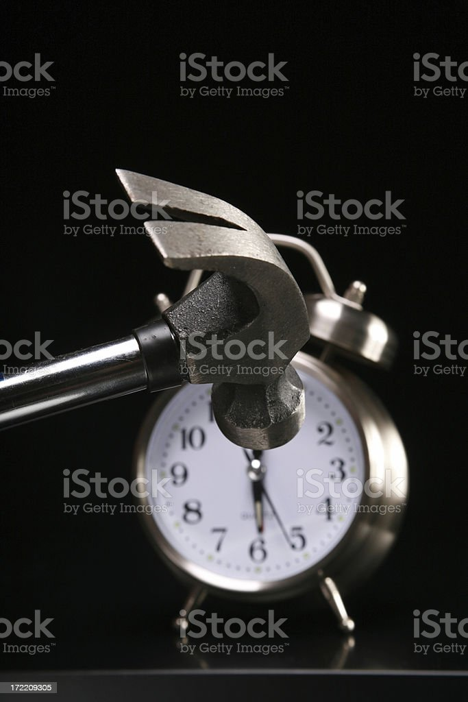 I Don't Wanna Get Up! stock photo