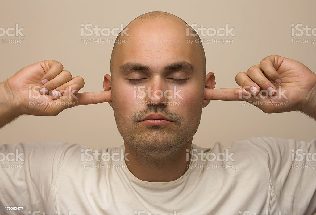 I don't want anything to hear royalty-free stock photo