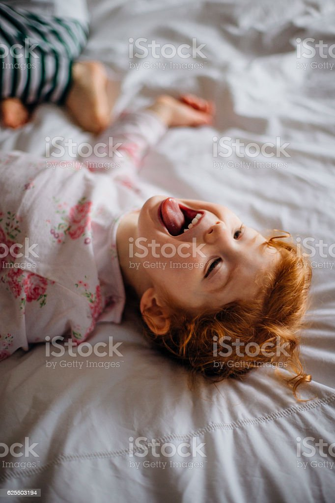I Don't Want To Go To Bed! stock photo