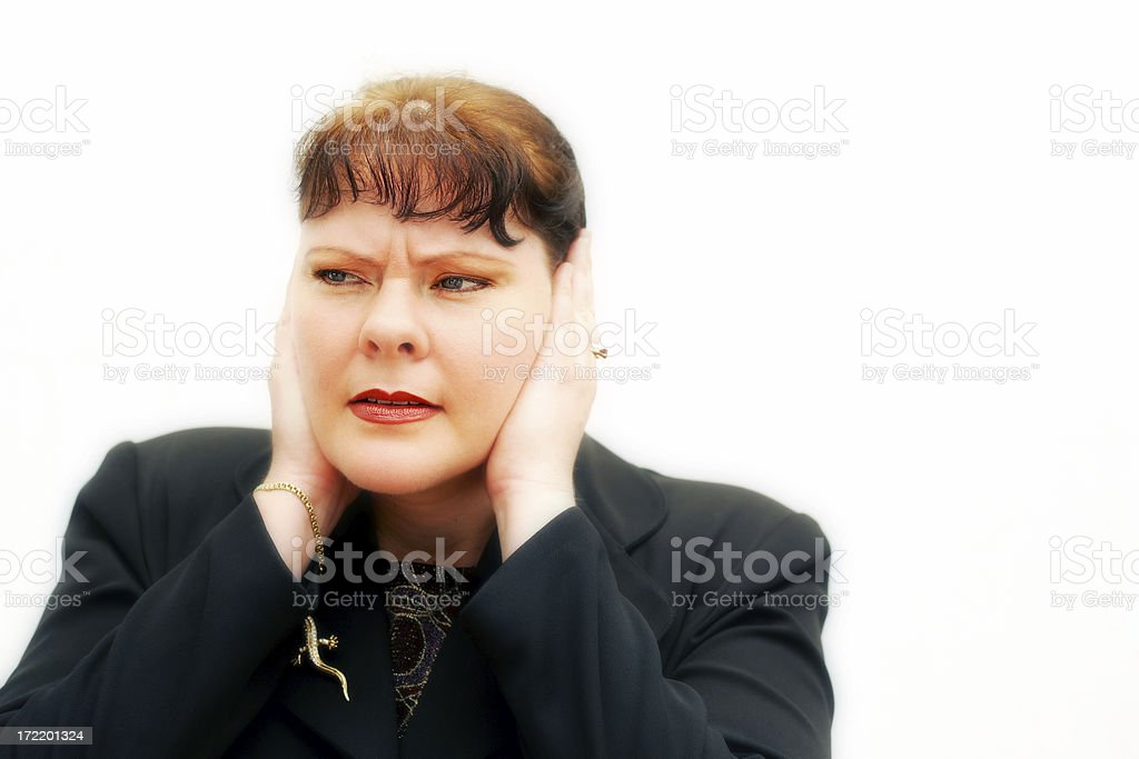 Don't Want to Hear it stock photo