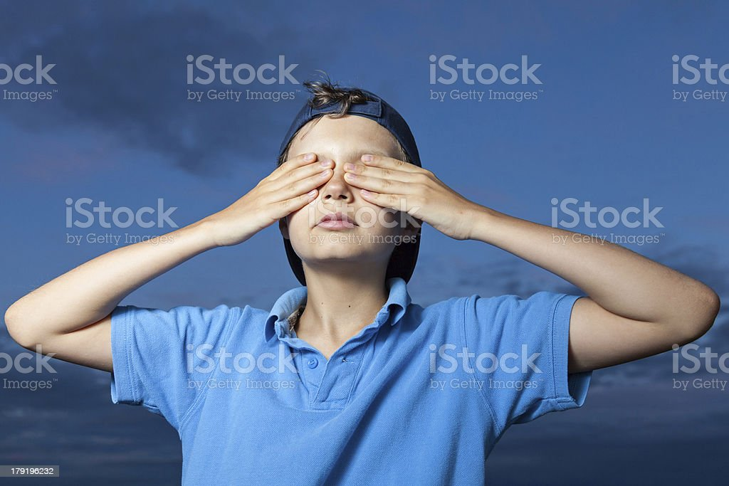 Don't want to see this! royalty-free stock photo