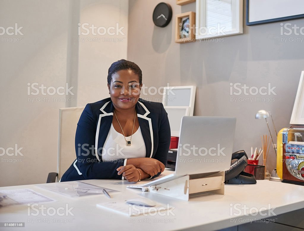 Don't worry, I'm on the job! stock photo