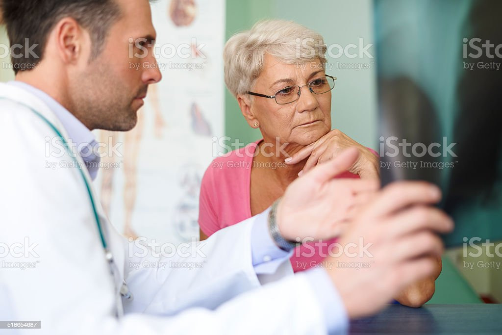 Don't worry, it's only small change in your lungs stock photo