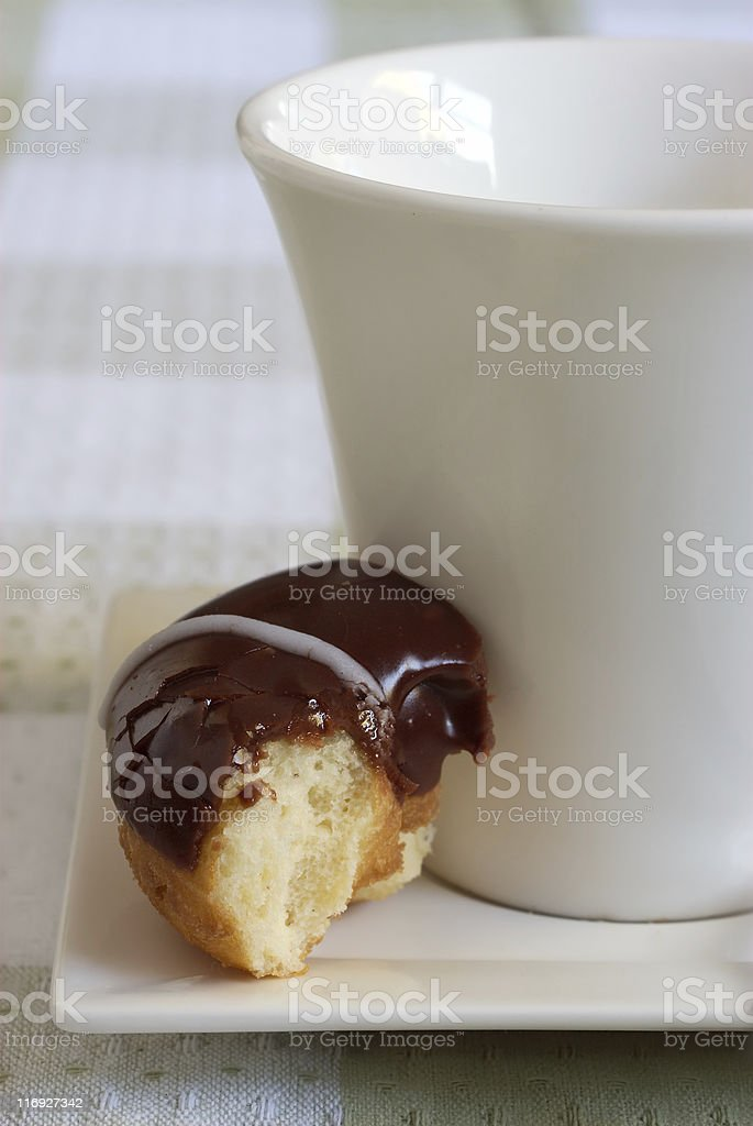 Donut and cup royalty-free stock photo