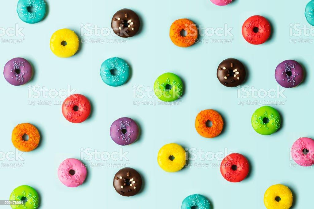 Donut background stock photo