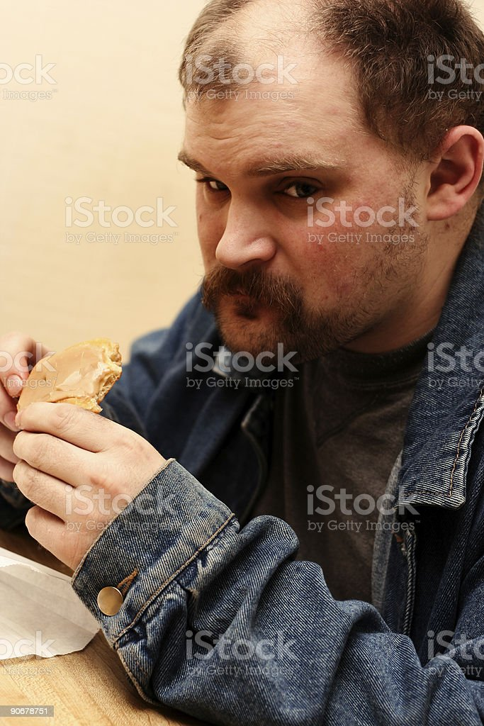 donut eater royalty-free stock photo