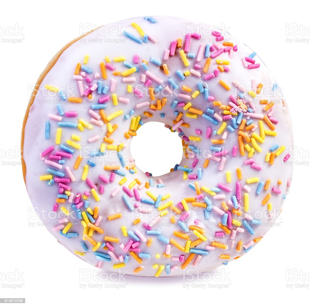 donut isolated on white stock photo