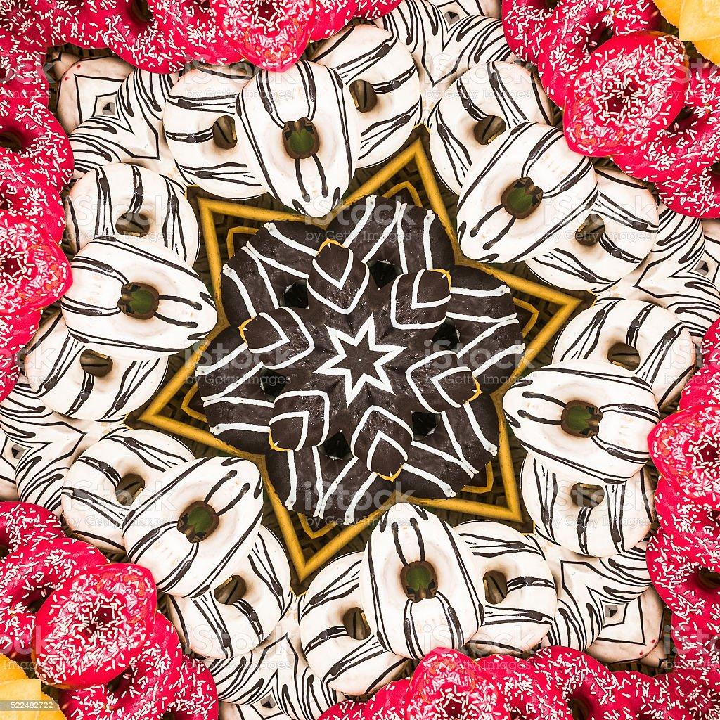 Donut Mandala stock photo