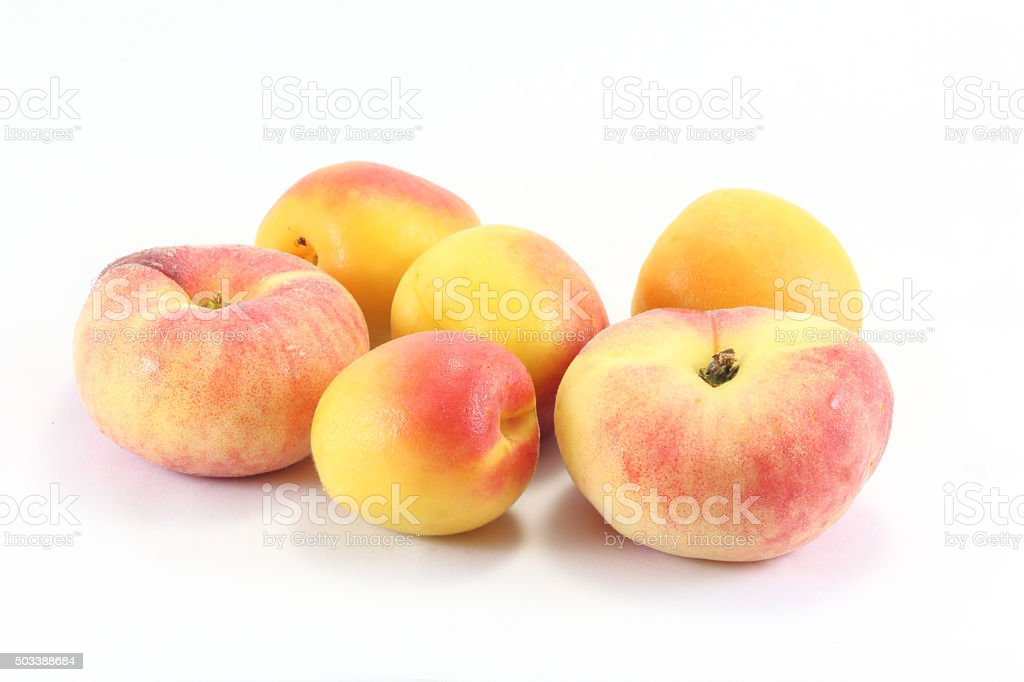 Donut Peach and Apricot Fruit stock photo