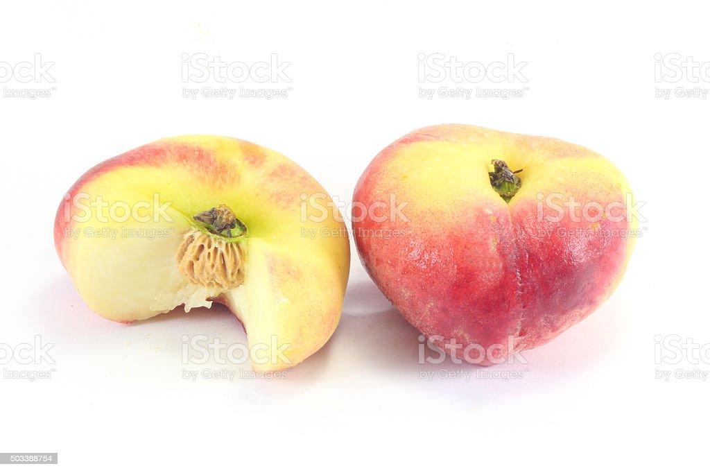 Donut Peach Fruit stock photo