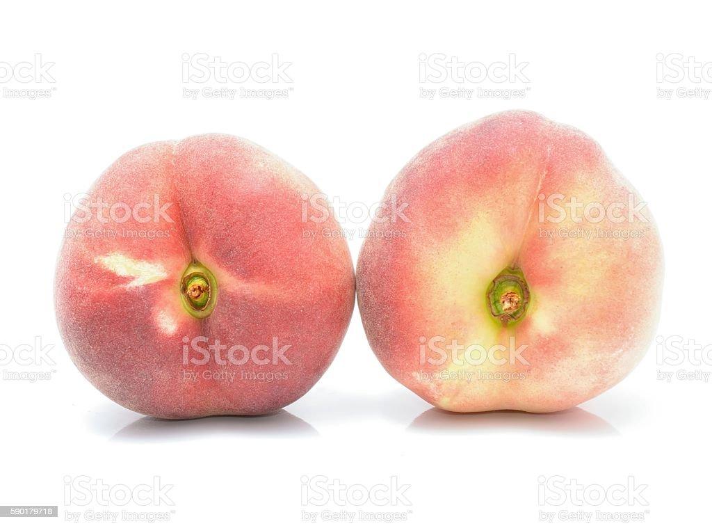donut peaches stock photo