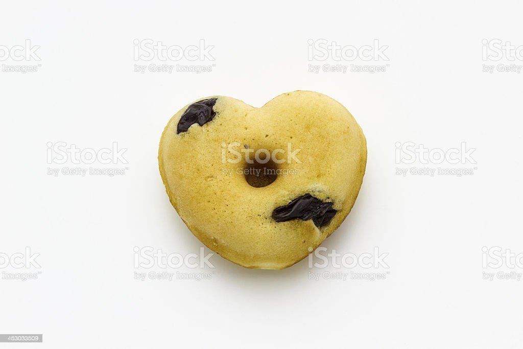 Donut shaped heart royalty-free stock photo