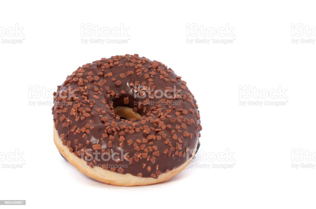 Donut. Sweet icing sugar food. Dessert colorful snack. Glazed sprinkles. Treat from delicious pastry breakfast. Bakery cake. Doughnut with frosting. stock photo