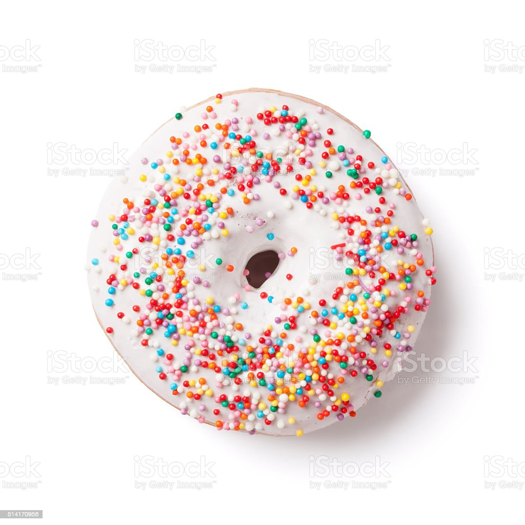 Donut with colorful decor stock photo