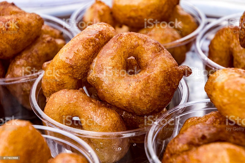 Donuts by the cup stock photo
