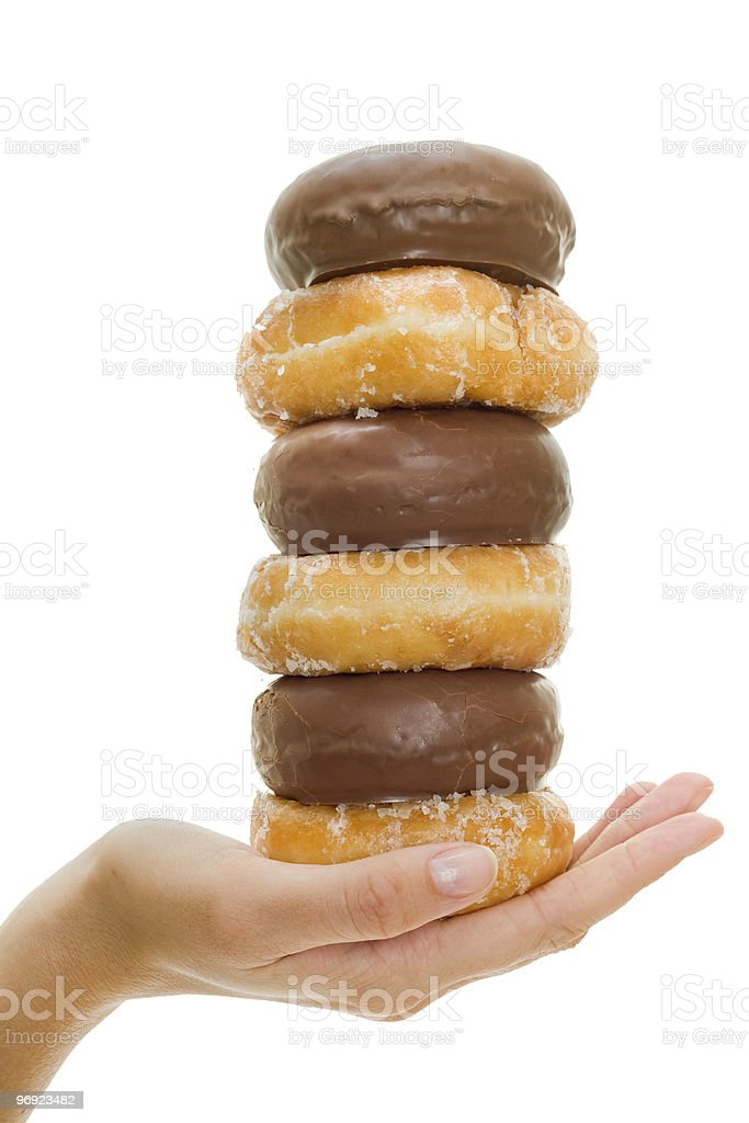 Donuts in Hand royalty-free stock photo