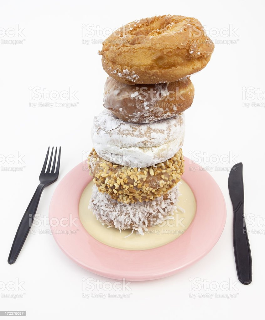 Donuts on a Plate royalty-free stock photo