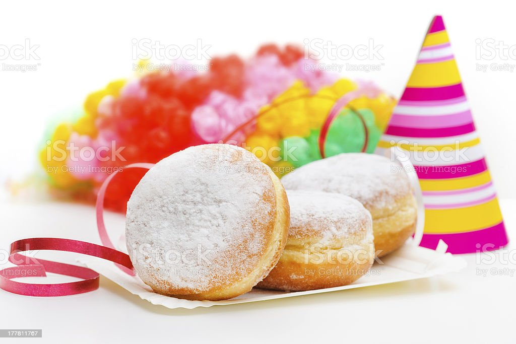 donuts on a white background royalty-free stock photo