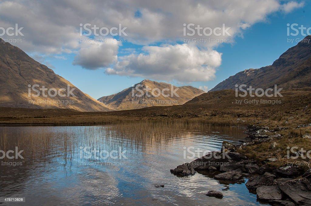 Doo Lough,Connemara Nationalpark stock photo