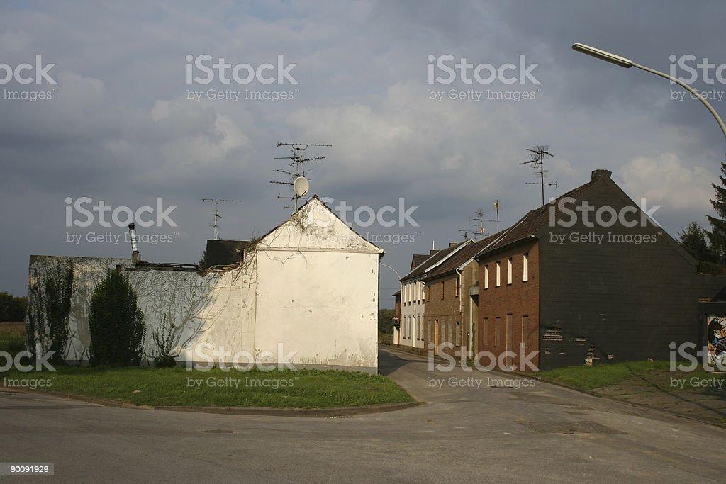 doomed village stock photo